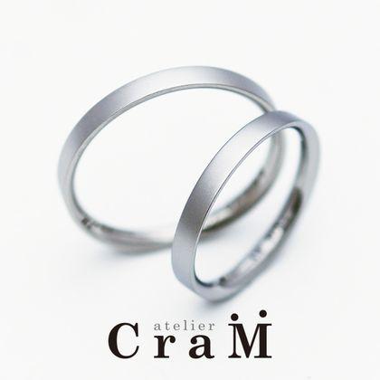 【atelier CraM(アトリエ クラム)】Sequence(シークエンス)/ 角っぽいのに超内甲丸で着け心地抜群の結婚指輪【カスタムオーダー】