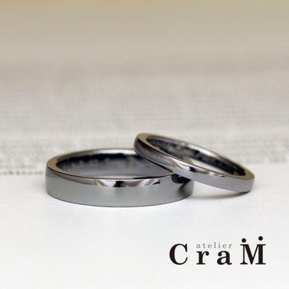【atelier CraM(アトリエ クラム)】平甲丸ストレートのタンタルリング【アレルギーフリー】【オーダーメイド婚約指輪】