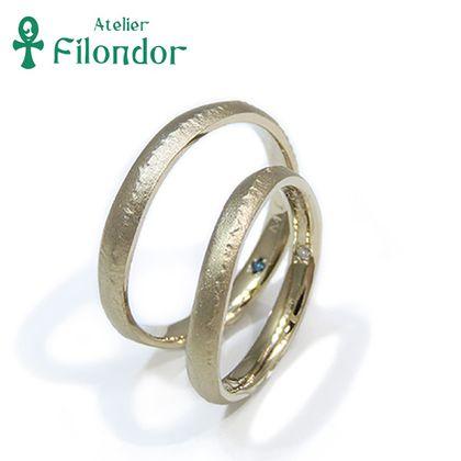 【アトリエフィロンドール】【アトリエ・フィロンドール】フルオーダー 山の稜線を削り出した結婚指輪