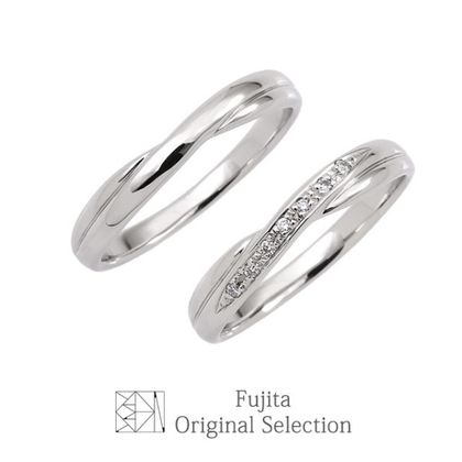 【Bridal Jewelry Fujita(ブライダルジュエリーフジタ)】「LILY/リリィ」 憧れのプラチナがペア10万円で叶う マリッジリング