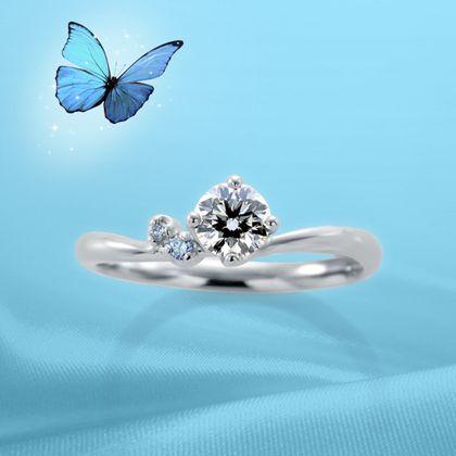 【Bridal Jewelry Fujita(ブライダルジュエリーフジタ)】アイスブルーダイヤモンド Robe de mariee [ローブドゥマリエ]