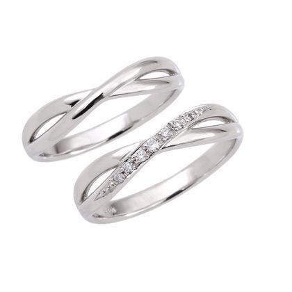 【Bridal Jewelry Fujita(ブライダルジュエリーフジタ)】POINSETTIA [ポインセチア] ペア10万円リングシリーズ