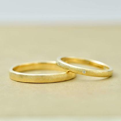 【指輪工房 KELLCH ケルヒ】【ケルヒ】趣のあるグリーンゴールドの結婚指輪