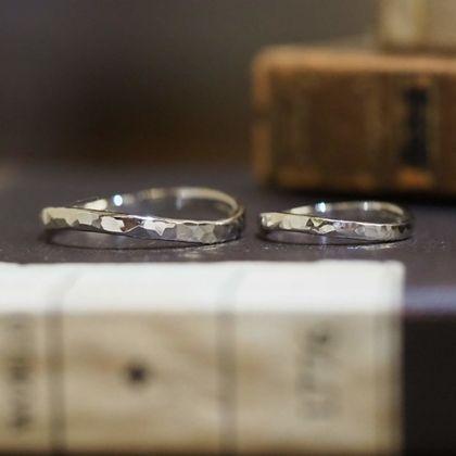 【指輪工房 KELLCH ケルヒ】【ケルヒ】結婚指輪手作りプラン「鍛造コース」作品