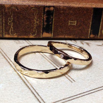 【指輪工房 KELLCH ケルヒ】【ケルヒ】結婚指輪手作りプラン作品「鍛造コース」