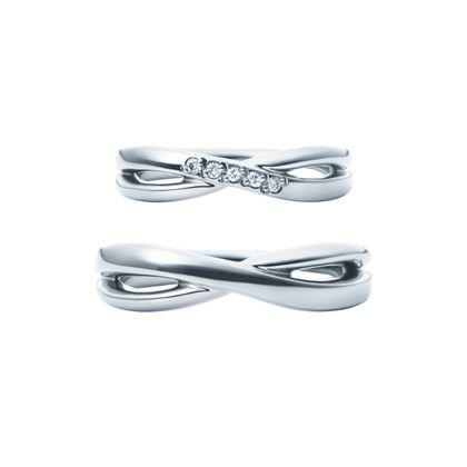 【EIKA(エイカ)】ウェーブ/MC1035 - MC1030/PT950/マスター 結婚指輪 EIKA