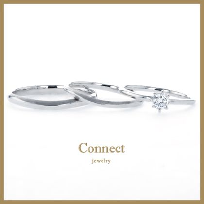 【Connect(コネクト)】【3本セット】婚約指輪・結婚指輪が3本セットで15万円!