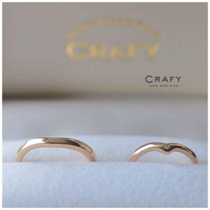【CRAFY(クラフィ)】☆ふたりで作る☆結婚指輪 K18ブラウンゴールド