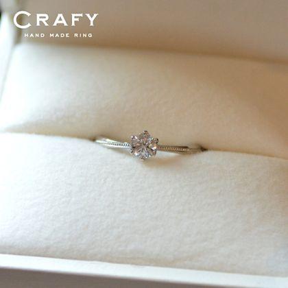【CRAFY(クラフィ)】☆サプライズプロポーズ☆婚約指輪 PT900 種別: 婚約指輪