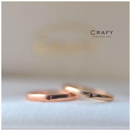 【CRAFY(クラフィ)】☆ふたりで作る☆結婚指輪 K18レッド×ブラウン