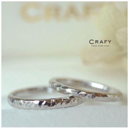 【CRAFY(クラフィ)】☆ふたりで作る☆結婚指輪 PT950