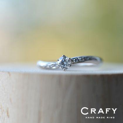 【CRAFY(クラフィ)】☆サプライズプロポーズ☆婚約指輪 PT900