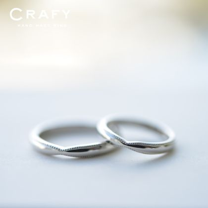 【CRAFY(クラフィ)】☆ふたりで作る☆結婚指輪PT900