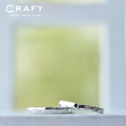【CRAFY(クラフィ)】☆ふたりでつくる☆結婚指輪 PT900