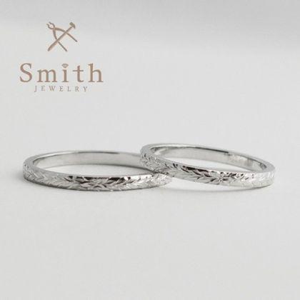 【Smith(工房スミス)】手作り結婚指輪+ハワイアンの彫刻
