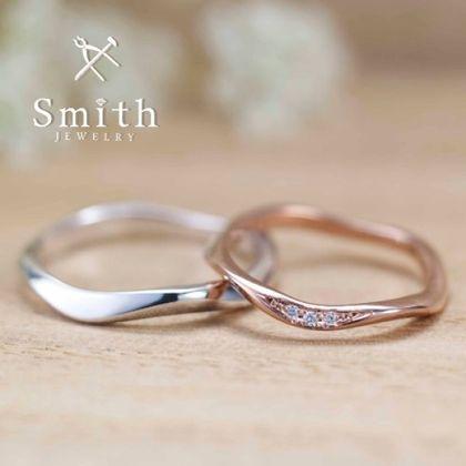 【Smith(工房スミス)】セミオーダーウエーブリング