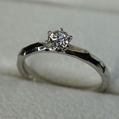 【札幌彫金工房】【手作り婚約指輪】制作事例