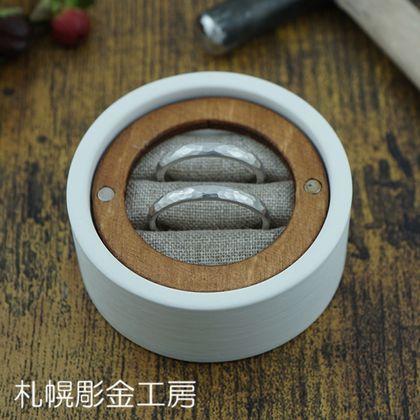 【札幌彫金工房】【ふたりで手作り】PtこうまるTSUCHIMEマット2.5mm