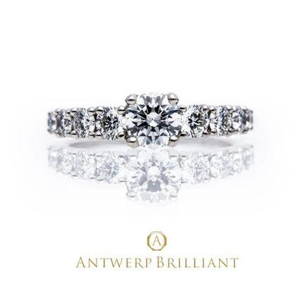 "【BRIDGE ANTWERP BRILLIANT GALLERY(ブリッジ・アントワープ・ブリリアント・ギャラリー)】""Extreme"" Side large Melee Diamond Ring"
