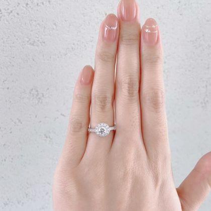 """【BRIDGE ANTWERP BRILLIANT GALLERY(ブリッジ・アントワープ・ブリリアント・ギャラリー)】""""Star Ray"""" Diamond Halo Harf Eternity Ring """"スターレイ"""" ダイヤモンド ヘイロー ハーフエタニティリング"""