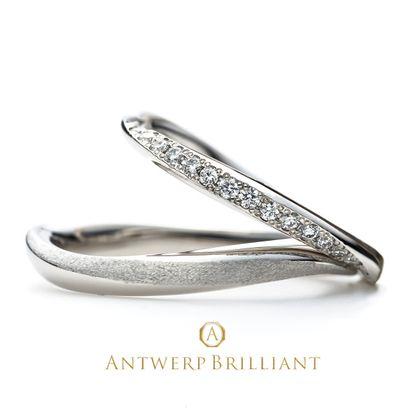 """【BRIDGE ANTWERP BRILLIANT GALLERY(ブリッジ・アントワープ・ブリリアント・ギャラリー)】""""galaxy""""Wedding Band Ring""""ギャラクシー""""ウエディングバンド リング"""