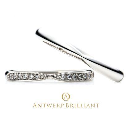 """【BRIDGE ANTWERP BRILLIANT GALLERY(ブリッジ・アントワープ・ブリリアント・ギャラリー)】""""Sirius"""" Wedding Band Ring """"シリウス"""" ウエディングバンドリング"""