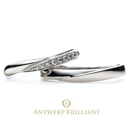 """【BRIDGE ANTWERP BRILLIANT GALLERY(ブリッジ・アントワープ・ブリリアント・ギャラリー)】Spica Wedding Band Ring   """"スピカ""""ウエディングバンド リング"""