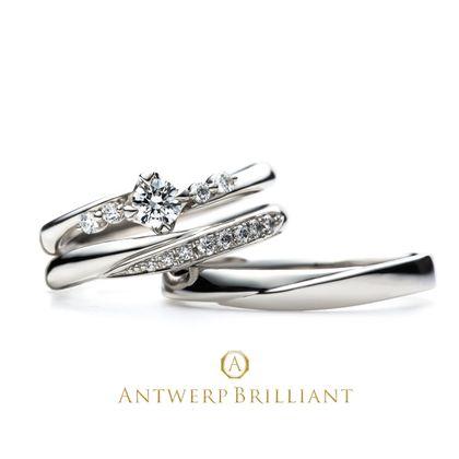 """【BRIDGE ANTWERP BRILLIANT GALLERY(ブリッジ・アントワープ・ブリリアント・ギャラリー)】Spica 4 side melee Diamond Line Ring Set """"スピカ"""" 4 サイド メレー ダイヤモンド ライン リング セット"""