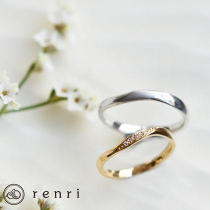 【renri(レンリ)】【手作り・オーダーメイド】ゆるやかなうねりが指になじみ、美しい光の曲線を生み出すデザイン