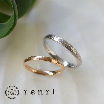 【renri(レンリ)】【手作り・オーダーメイド】思い思いの模様を、ハンマーテクスチャーのデザイン