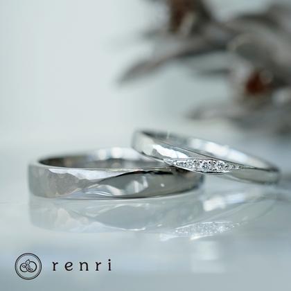 【renri(レンリ)】【手作り・オーダーメイド】ポイントデザインがお洒落なデザインリング