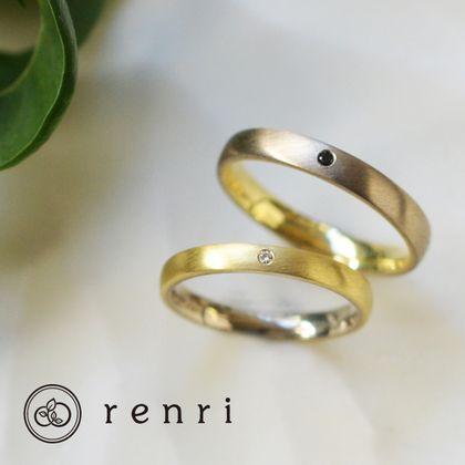 【renri(レンリ)】【手作り・オーダーメイド】対になったデザインのコンビカラーリング
