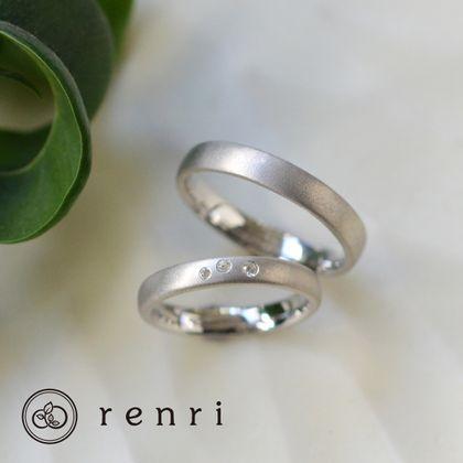 【renri(レンリ)】【手作り・オーダーメイド】柔らかなマットな質感が特徴、サンドブラスト仕上げの指輪