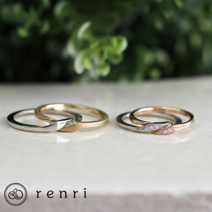 "【renri(レンリ)】【オーダーメイド】""双子""の意味を持つ、二つで一つのギメルリング"