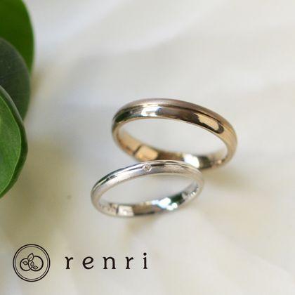 【renri(レンリ)】【手作り・オーダーメイド】上品なライン使いで遊ぶデザインリング