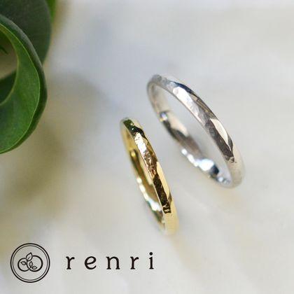 【renri(レンリ)】【手作り・オーダーメイド】シャープな山型のフォルムのリング