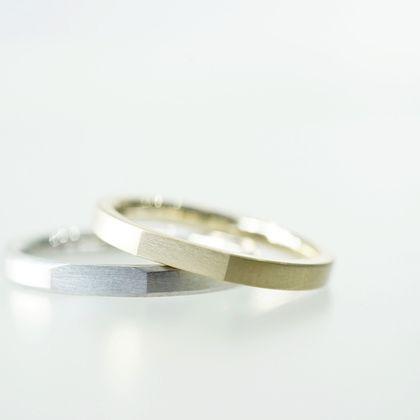 【renri(レンリ)】【手作り・オーダーメイド】フラットな造形が美しい、ミニマルデザインなご結婚指輪