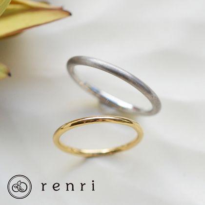 【renri(レンリ)】【手作り・オーダーメイド】一筋の光のような、華奢なデザインリング