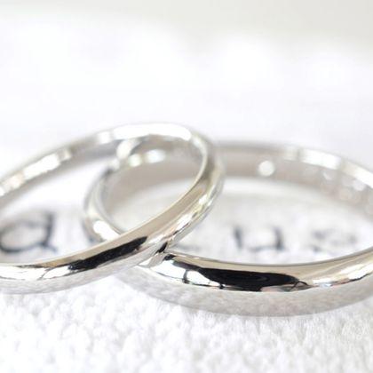 【湘南彫金工房 andfuse】【手作り結婚指輪デザインワックスコース】金属アレルギー対策用のイリジウムを割金に使ったプラチナ900の手作り結婚指輪