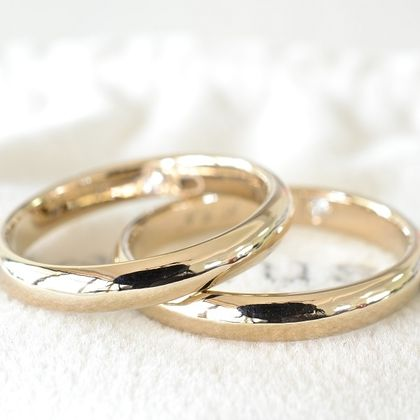 【湘南彫金工房 andfuse】【手作り結婚指輪デザインワックスコース】四つ葉のクローバーにダイアをセットしたこう丸の手作り結婚指輪