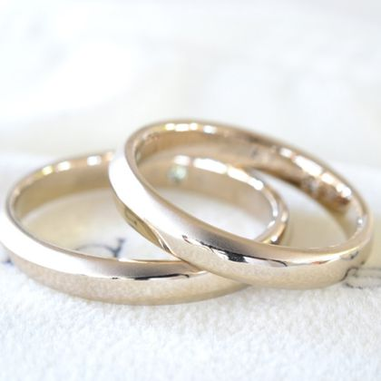【湘南彫金工房 andfuse】【手作り結婚指輪デザインワックスコース】-wa(調和)二人の調和をイメージした人気のデザインです。
