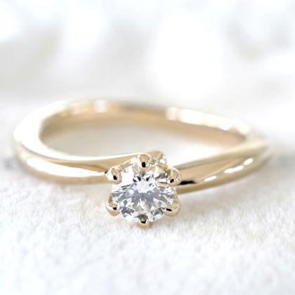 【湘南彫金工房 andfuse】【手作り婚約指輪コース】ゆるやかな優しいカーブの手作り婚約指輪