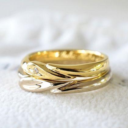 【湘南彫金工房 andfuse】ハートトゥーハート ダイアモンドの結婚指輪【手作り結婚指輪デザインワックス】