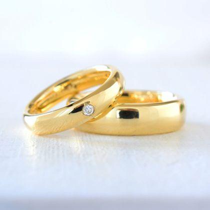 【湘南彫金工房 andfuse】【手作り結婚指輪デザインワックスコース】ゆったりしたカーブの結婚指輪
