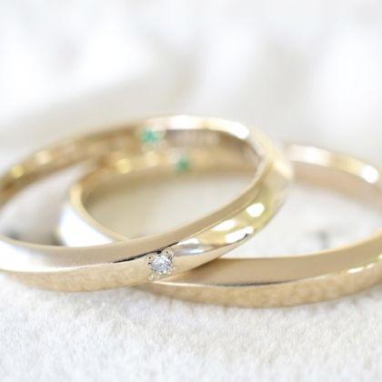 【湘南彫金工房 andfuse】【手作り結婚指輪デザインワックスコース】cho-wa(調和)