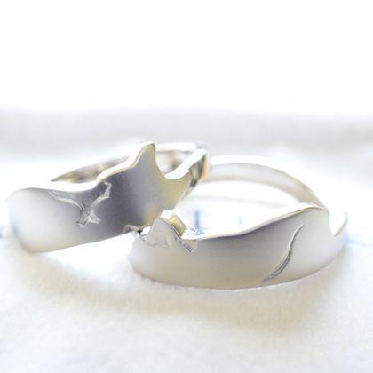 【湘南彫金工房 andfuse】【手作り結婚指輪デザインワックスコース】飼いネコをモチーフにした可愛い手作り結婚指輪