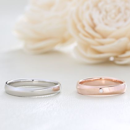 【湘南彫金工房 andfuse】【手作り結婚指輪デザインワックスコース】シンプルなラインの結婚指輪
