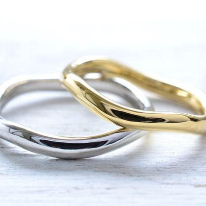 【湘南彫金工房 andfuse】【手作り結婚指輪デザインワックスコース】なみなみデザインの手作り結婚指輪