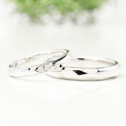 【湘南彫金工房 andfuse】【手作り結婚指輪デザインワックスコース】陽だまりをイメージした結婚指輪