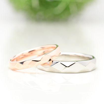 【湘南彫金工房 andfuse】【手作り結婚指輪デザインワックスコース】キラキラした輝きの結婚指輪